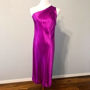 Banana Republic 100% Silk Fuschia Cocktail Dress 2